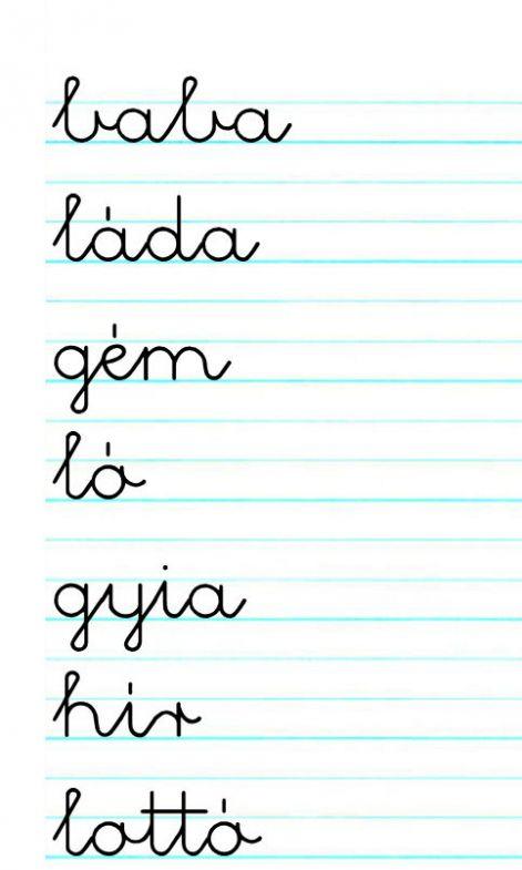 Betűtípusok kézírás